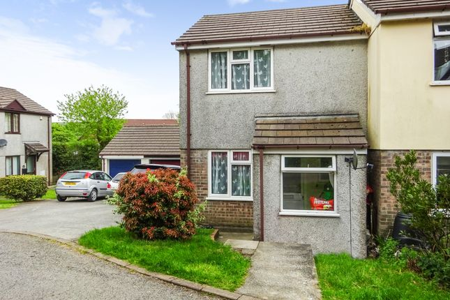 Thumbnail End terrace house to rent in Baynes Close, St. Cleer, Liskeard