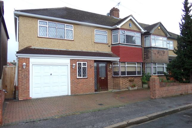 Thumbnail Semi-detached house to rent in Edward Way, Ashford, Middlesex