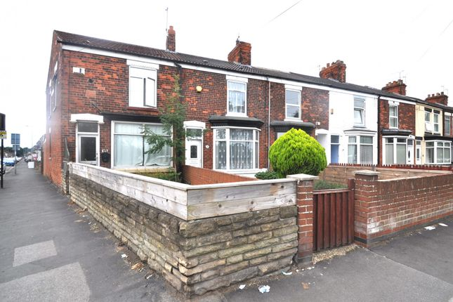 Thumbnail End terrace house for sale in Clough Road, Hull