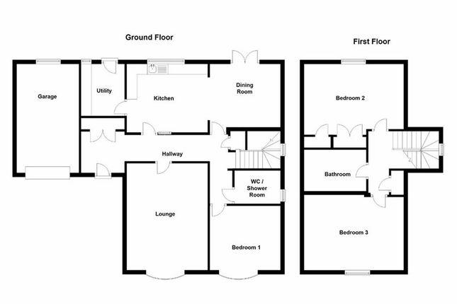 Thumbnail Detached bungalow for sale in Glanfryn Court, Heol Cwmmawr, Drefach, Nr Cross Hands