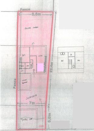 Site Plan Showing Illustrative House Sketch.