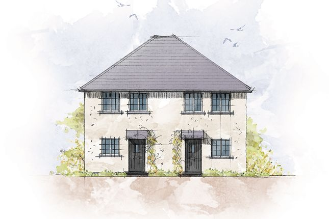 Thumbnail Semi-detached house for sale in Polwithen Gardens, Carbis Bay, St. Ives