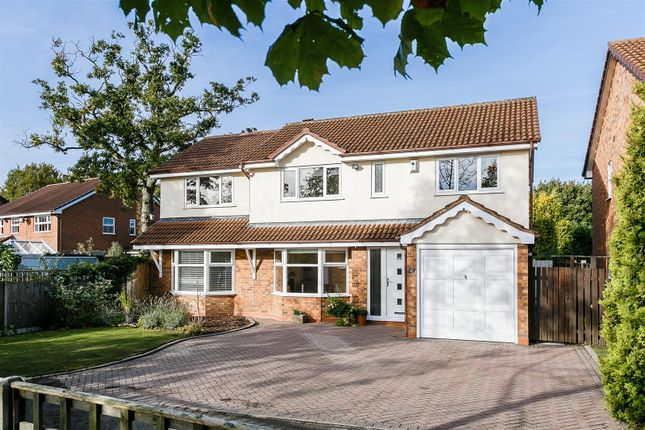 Thumbnail Detached house for sale in Clarewell Avenue, Hillfield, Solihull