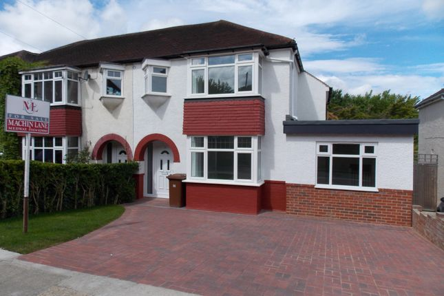 Thumbnail Semi-detached house for sale in Grange Way, Rochester