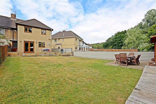Thumbnail Semi-detached house for sale in Hawthorn Crescent, Hawthorn, Pontypridd