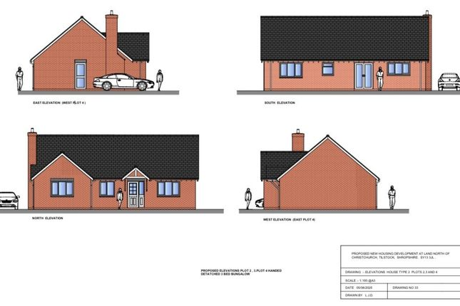 Thumbnail Detached bungalow for sale in Tilstock Lane, Tilstock, Whitchurch