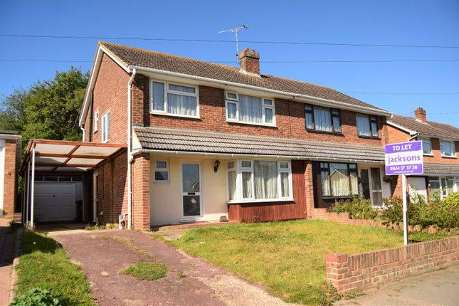 Thumbnail Semi-detached house to rent in Birch Grove, Hempstead, Gillingham