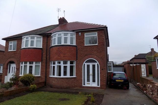 Thumbnail Semi-detached house to rent in Middlefield Road, Bessacarr, Doncaster
