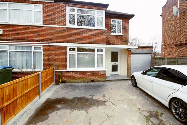 Thumbnail 3 bed semi-detached house to rent in Beverley Drive, Edgware
