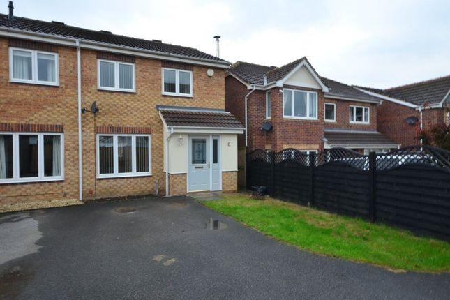Thumbnail Semi-detached house to rent in Northfield Court, South Kirkby, Pontefract