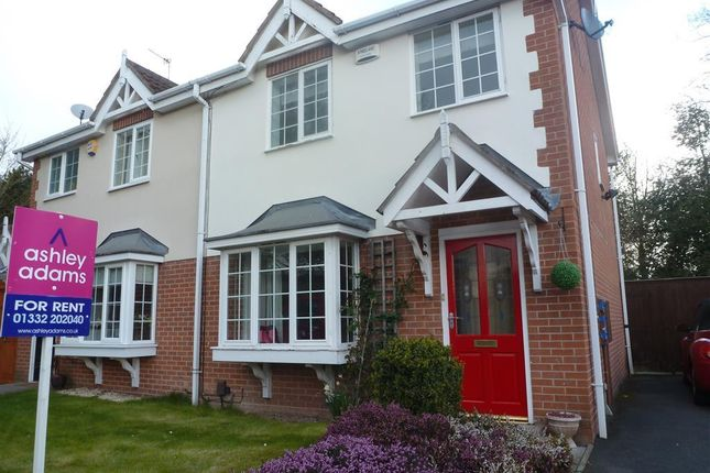Thumbnail Semi-detached house to rent in Atworth Grove, Littleover, Derby