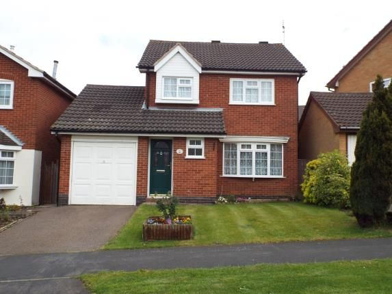 Thumbnail Detached house for sale in Somerset Drive, Glenfield, Leicester, Leicestershire