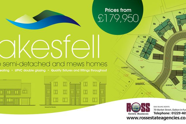 Thumbnail Terraced house for sale in Lakesfell Development, Askam In Furness