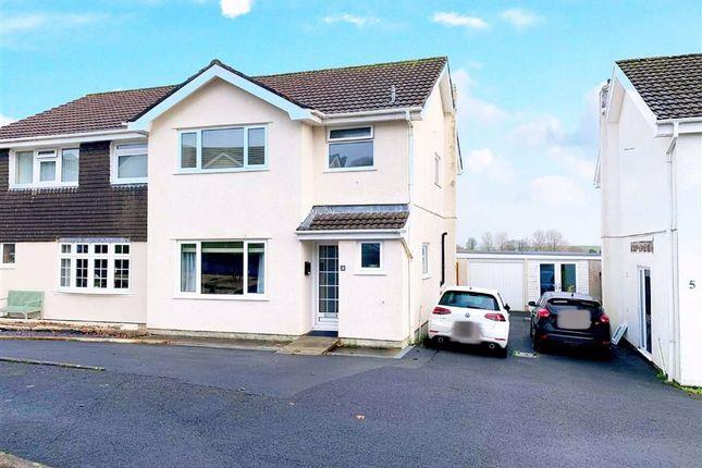 Thumbnail Semi-detached house for sale in Erw Non, Llannon, Llanelli