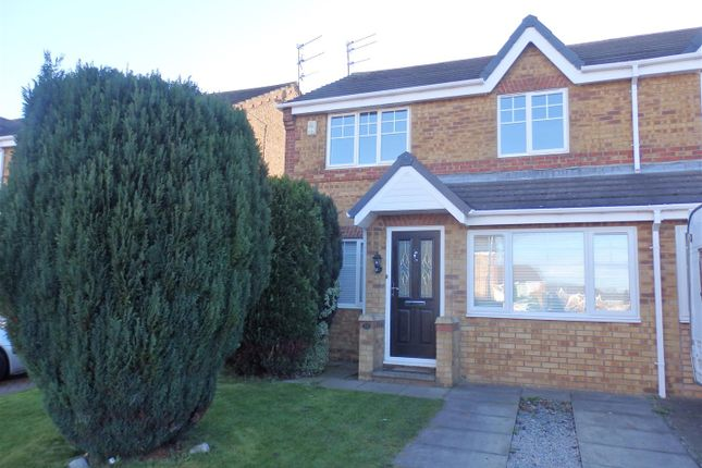 Thumbnail Semi-detached house to rent in Yew Close, Spennymoor