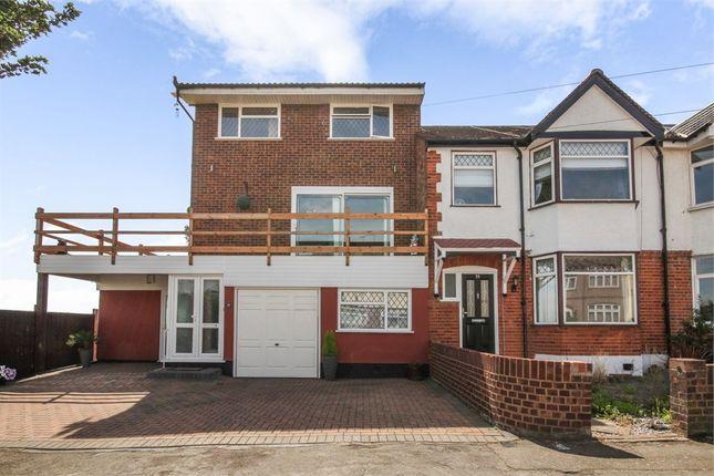 Thumbnail End terrace house for sale in Sylvan Avenue, Romford, Essex