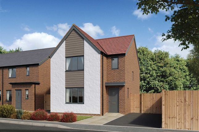 "Thumbnail Detached house for sale in ""The Hatfield"" at Church Road, Old St. Mellons, Cardiff"