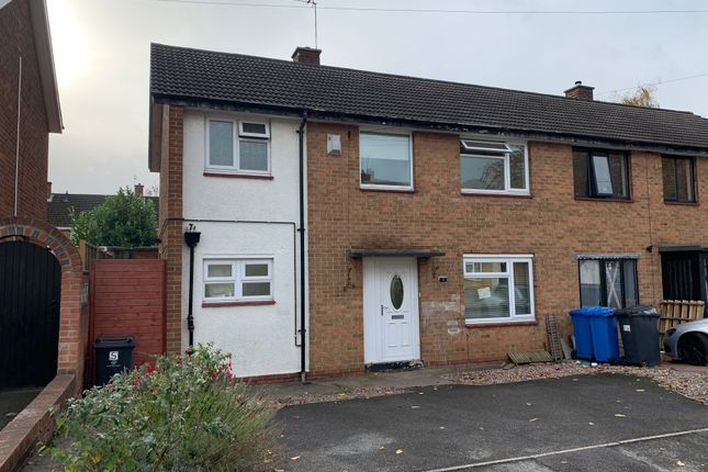 Thumbnail 3 bed semi-detached house to rent in Limerick Road, Chaddesden, Derby