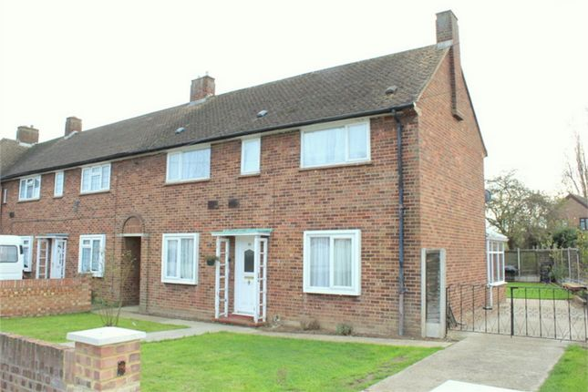 Thumbnail End terrace house for sale in St Annes Avenue, Stanwell, Surrey