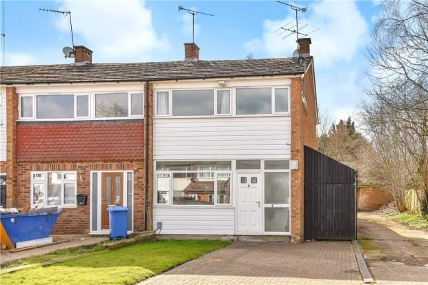 Thumbnail End terrace house for sale in Kingsway, Blackwater, Surrey