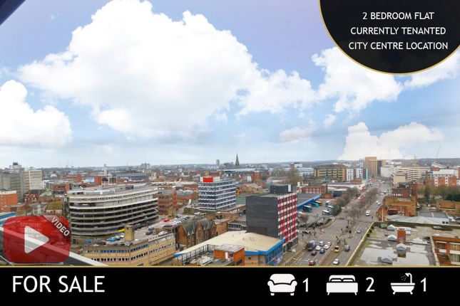 Thumbnail 2 bed flat for sale in The Horizon, 2 Navigation Street, Leicester