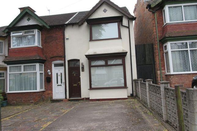 Thumbnail End terrace house for sale in Ilsley Road, Erdington, Birmingham