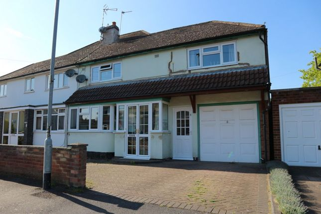 Thumbnail Semi-detached house for sale in Kirloe Avenue, Leicester Forest East