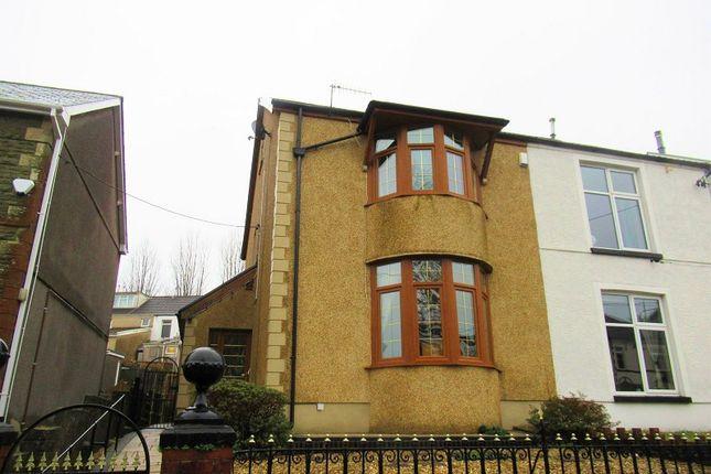 Thumbnail Semi-detached house for sale in Brynmawr Place, Maesteg, Bridgend.