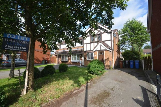 Thumbnail Semi-detached house to rent in Walton Hall Drive, Levenshulme, Manchester
