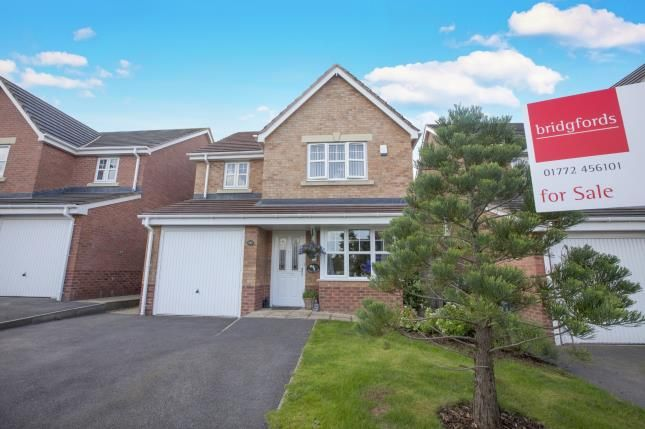 Thumbnail Detached house for sale in Parish Gardens, Leyland, Lancashire