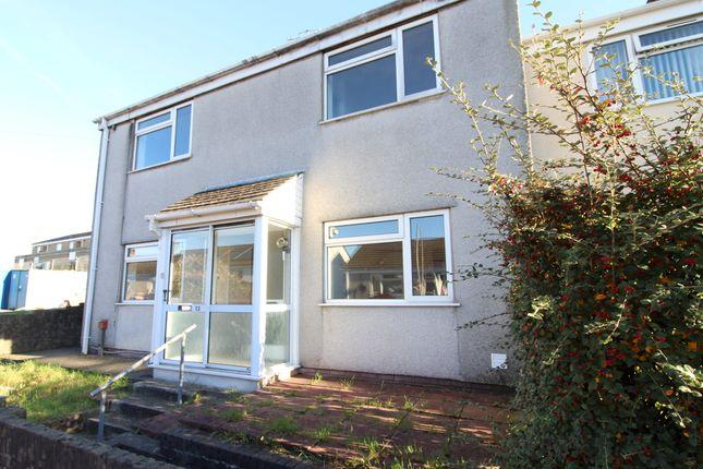 Thumbnail End terrace house for sale in Maes Gwyn, Pentwynmawr, Newbridge