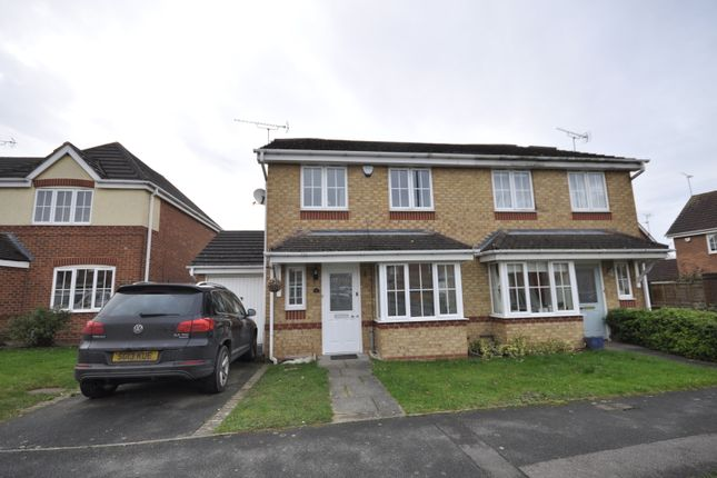 Thumbnail Semi-detached house to rent in Acrefield Way, Chellaston, Derby