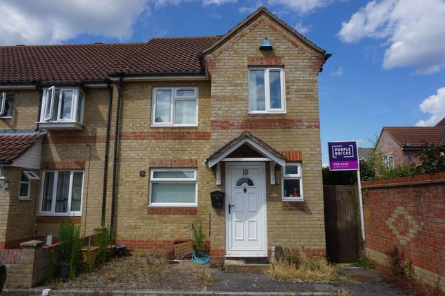 Thumbnail End terrace house for sale in Ensign Drive, Gosport
