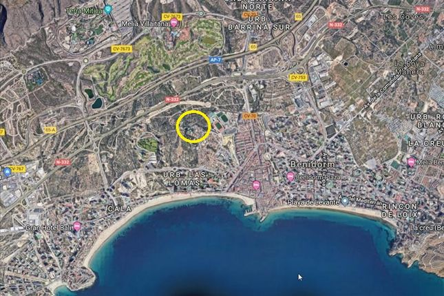 Thumbnail Land for sale in Benidorm, Alicante, Spain