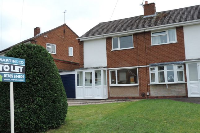 Thumbnail Semi-detached house to rent in Farmdown Road, Stafford