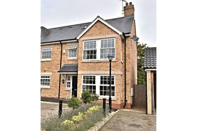 Thumbnail End terrace house for sale in Usborne Mews, Writtle, Chelmsford