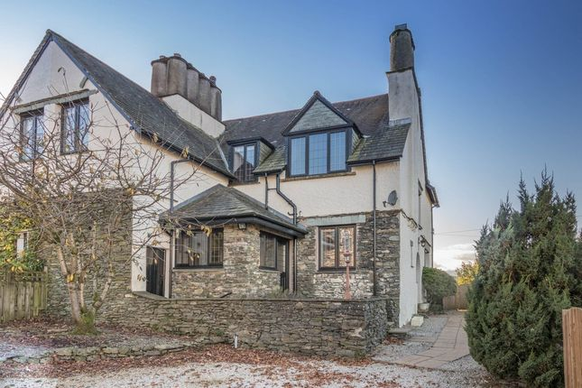 Thumbnail Semi-detached house for sale in Blencathra, Including Building Plot, Park Road, Windermere
