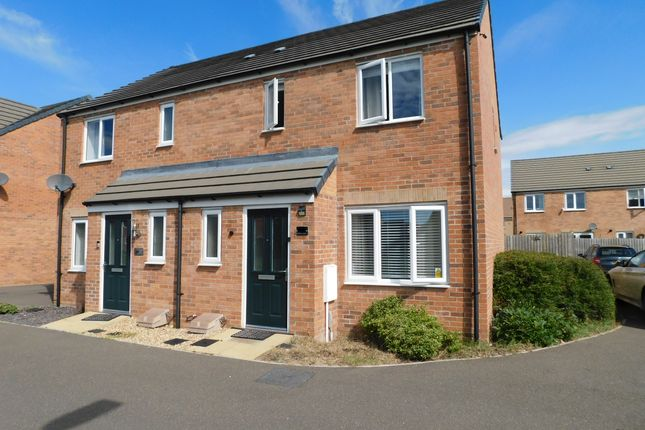 Thumbnail Semi-detached house to rent in Pandora Drive, Cardea, Peterborough