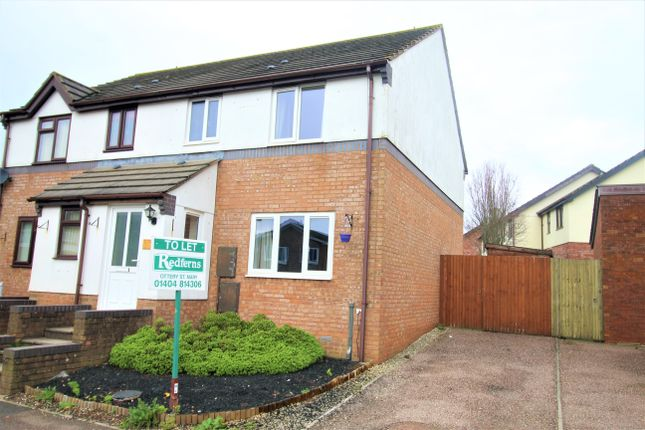 Thumbnail Semi-detached house to rent in Station Road, Feniton, Honiton