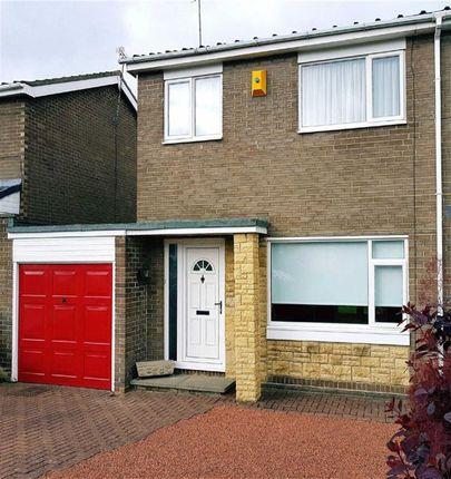 Thumbnail Semi-detached house for sale in Totnes Drive, Cramlington