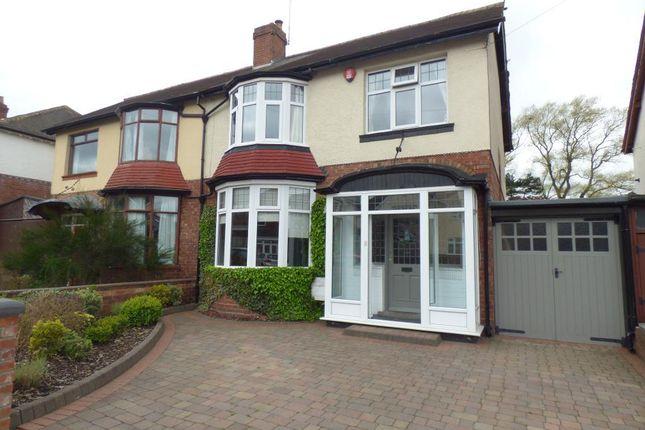Thumbnail Semi-detached house for sale in Willow Avenue, Edgbaston, Birmingham