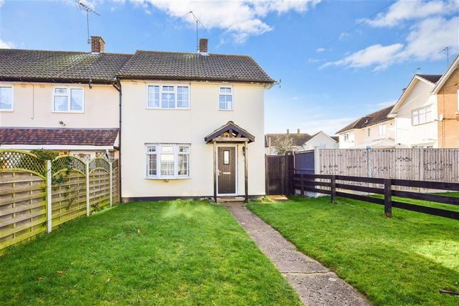Thumbnail End terrace house for sale in Wingfield Close, Brentwood, Essex