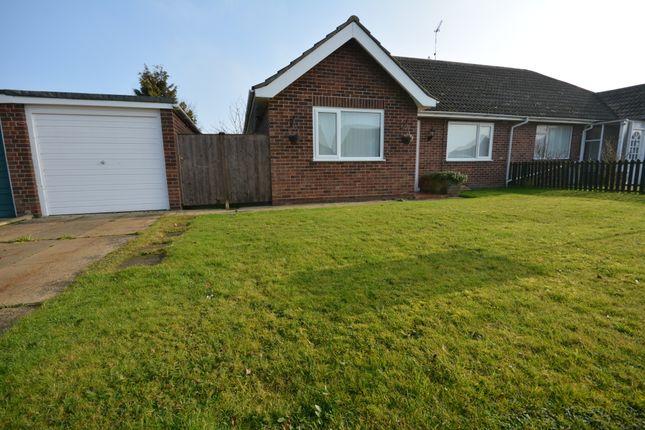 Thumbnail Semi-detached bungalow to rent in Manor Park Road, Corton, Lowestoft