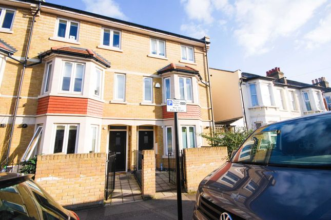 Thumbnail End terrace house to rent in Claude Road, London