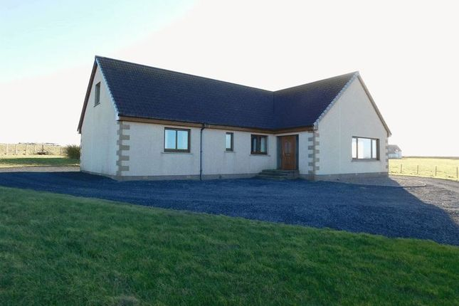Thumbnail Detached bungalow for sale in East Mey, Thurso, Caithness