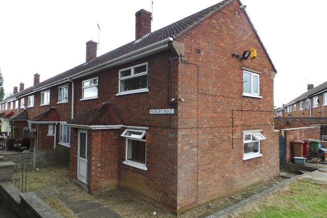 Thumbnail End terrace house to rent in Wragby Road, Scunthorpe