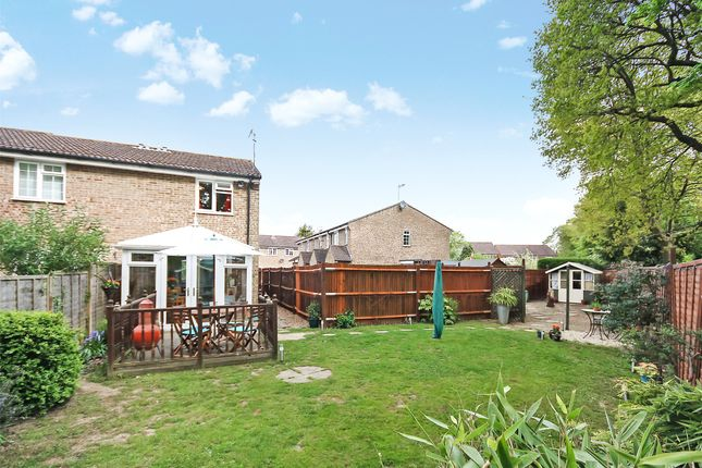 Thumbnail End terrace house for sale in Harrowsley Court, Horley, Surrey