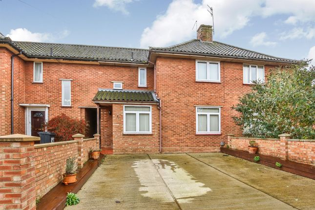 Thumbnail Terraced house for sale in Hellesdon Close, New Costessey, Norwich