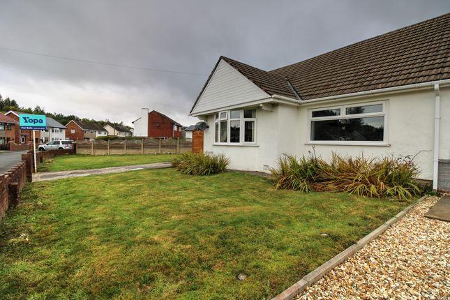 Thumbnail Semi-detached bungalow for sale in Glanhowy Street, Scwrfa, Tredegar