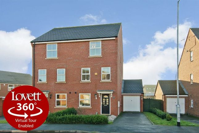 Thumbnail Semi-detached house for sale in Lupin Drive, Huntington, Cannock
